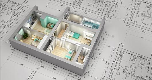 Plan de l'appartement en 3D